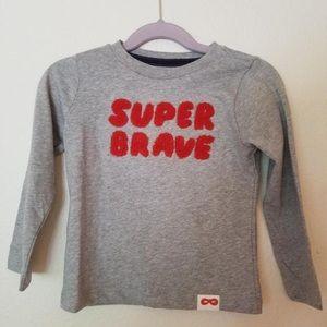Gymboree T Shirt grey Super brave new never worn